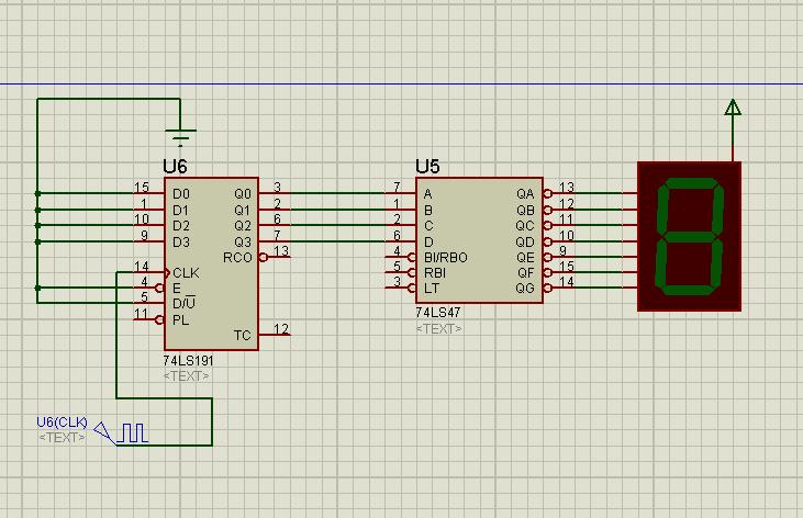 简单的数字模拟电路的问题,利用74ls191和74ls47做一个十进制的计数器