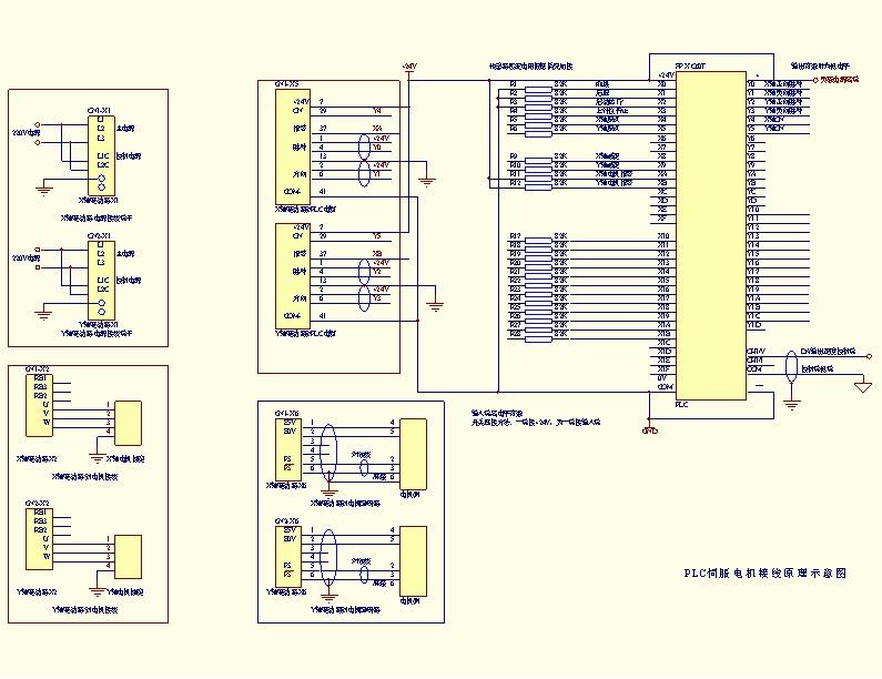 急求plc控制伺服电机接线图与程序例子,最好是松下,万分感谢各位老师