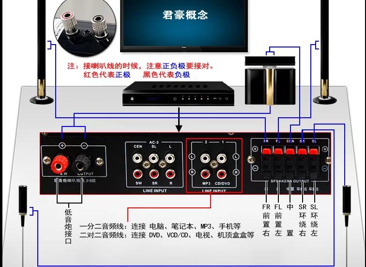 tcl网络电视连音响(无法音频输出)?