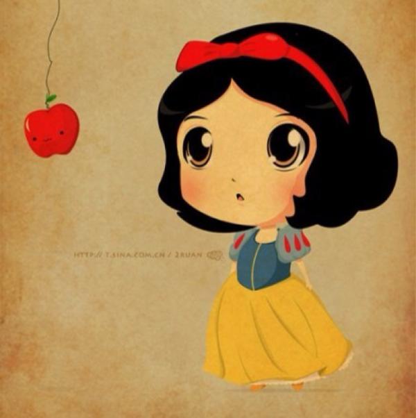 求白雪公主油画卡通头像