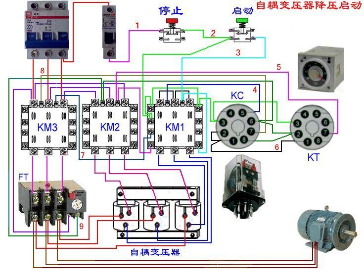 花出主电路和控制电路图并叙述电动机启动过程