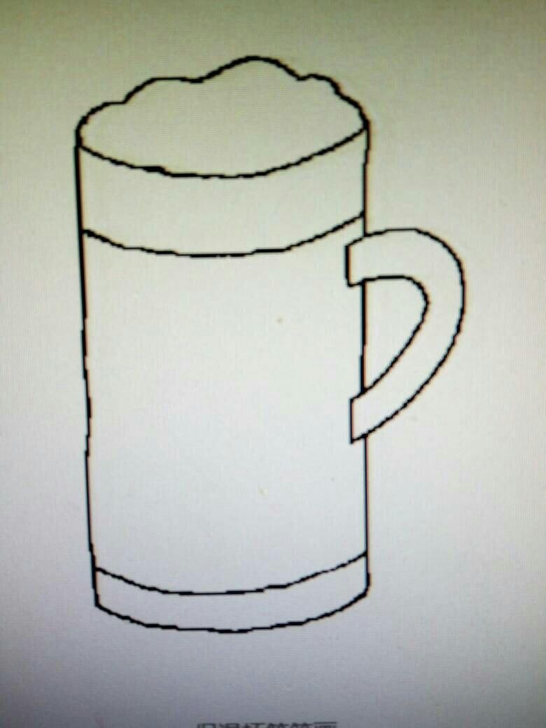 各种杯子的图片简笔画