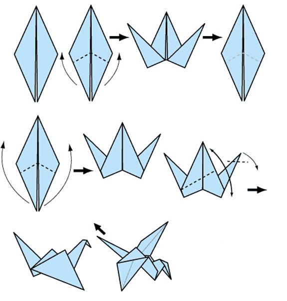 幼儿园手工制作大全 折简易的千纸鹤怎么折_百度知道