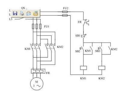 电机反转接线图和原理图