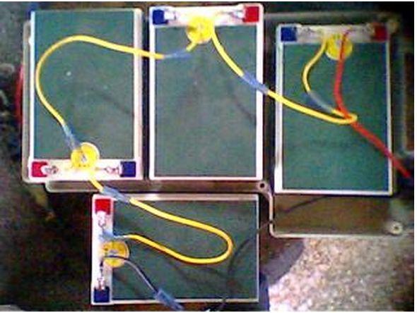 电动自行车60v12ah五个电池怎样串联有没有接线图