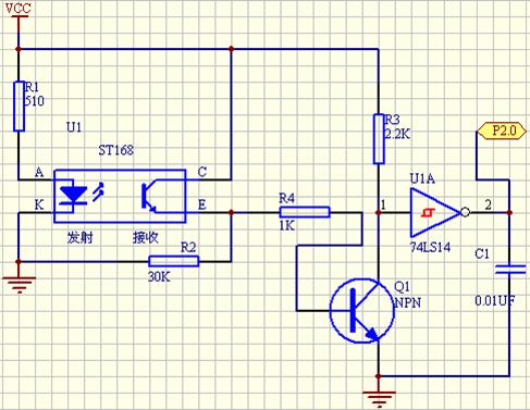 光电传感器在画原理图中的符号是怎样的?