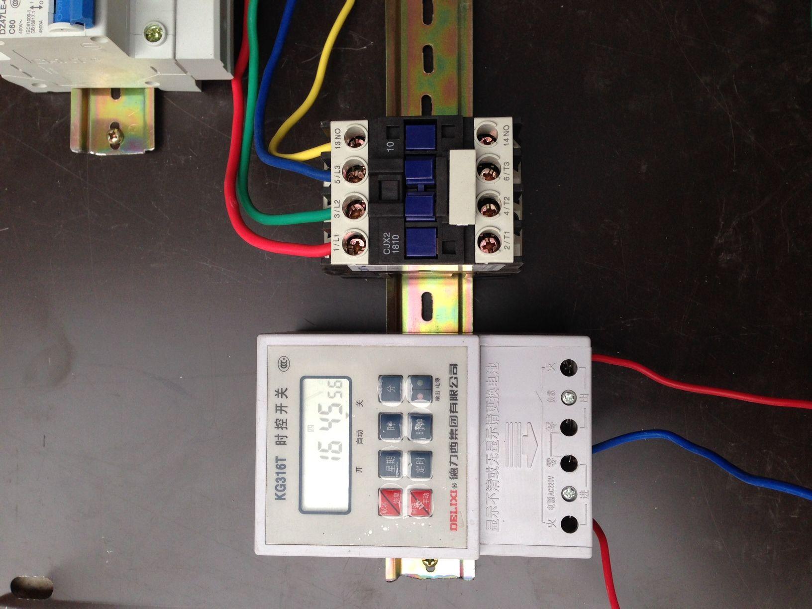 380v cjx2-1810交流接触器跟时控开关如何接线?
