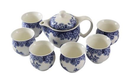 青花瓷茶具的介绍