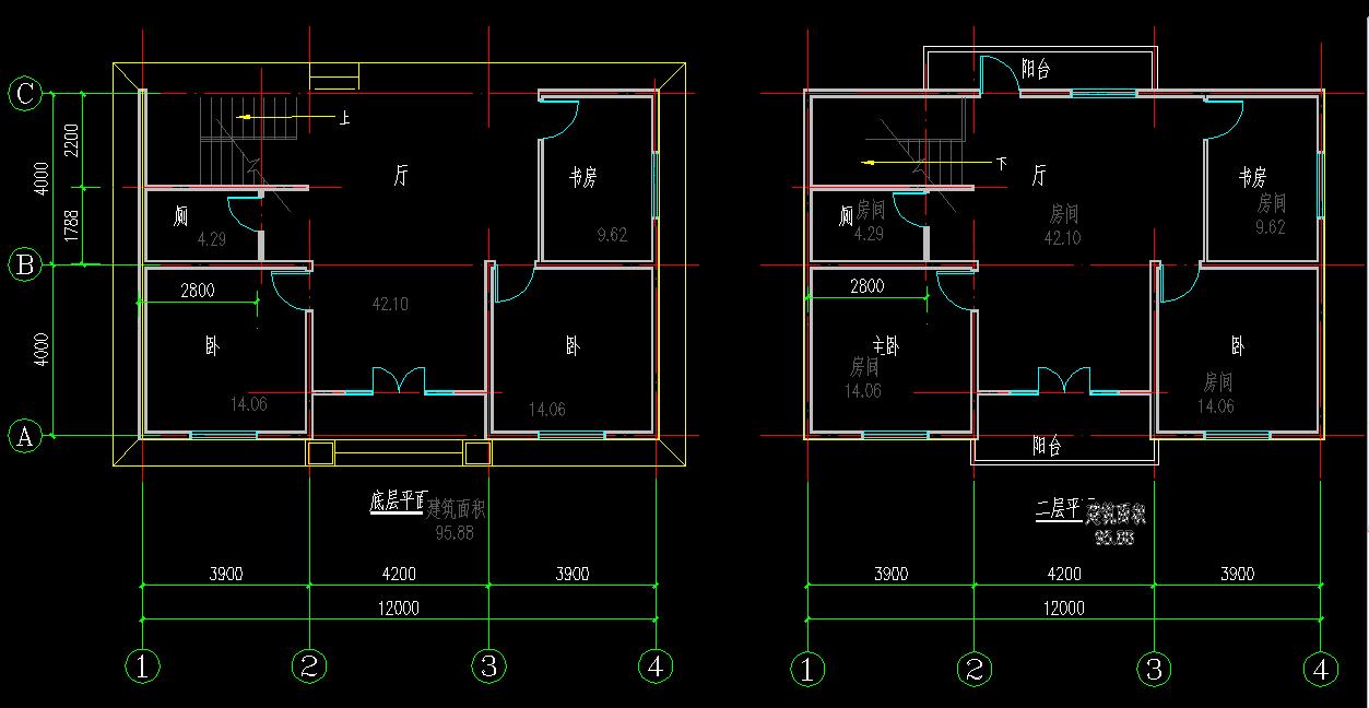 求8米宽12米长房屋设计图
