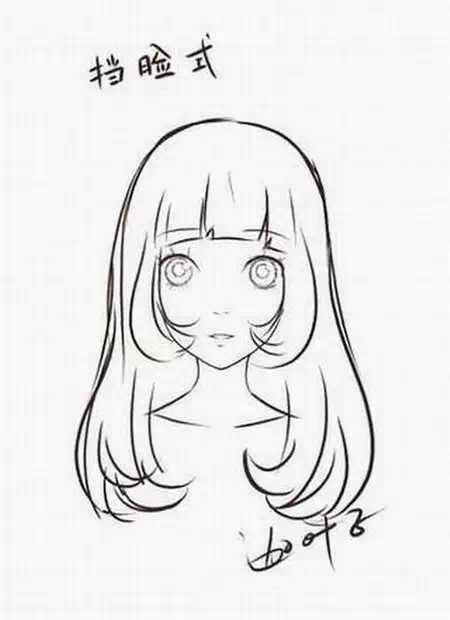 求一些好看的动漫女生发型,最好是长发,一定要有图啊喂,谢谢