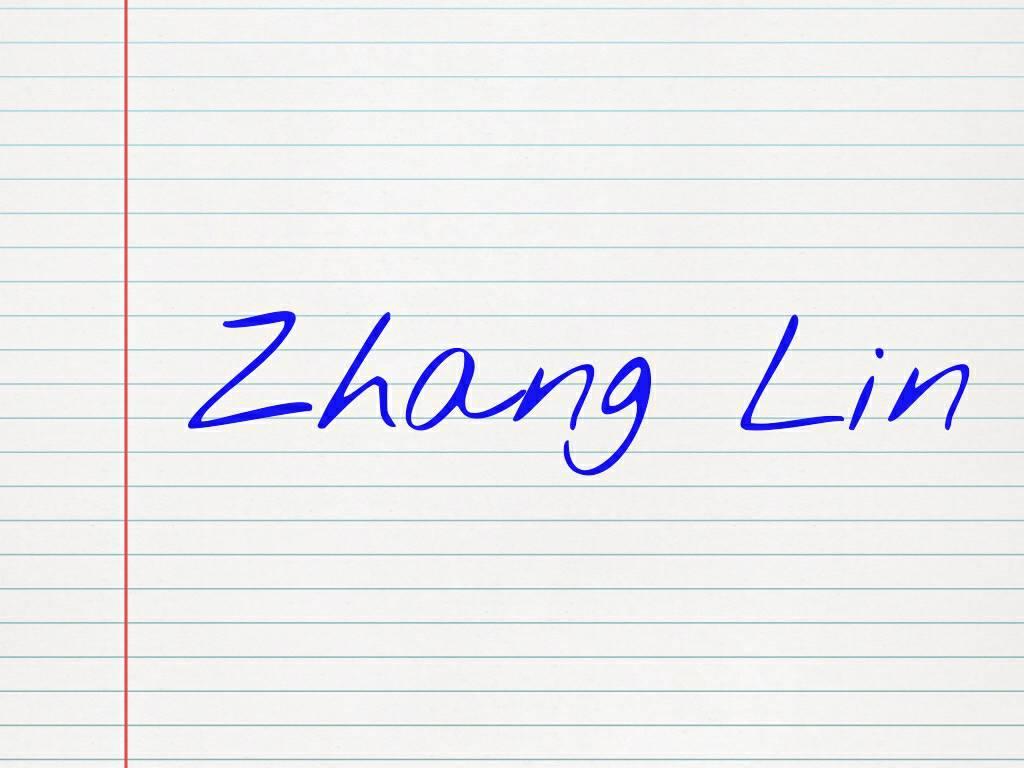 张林个性英文艺术签名
