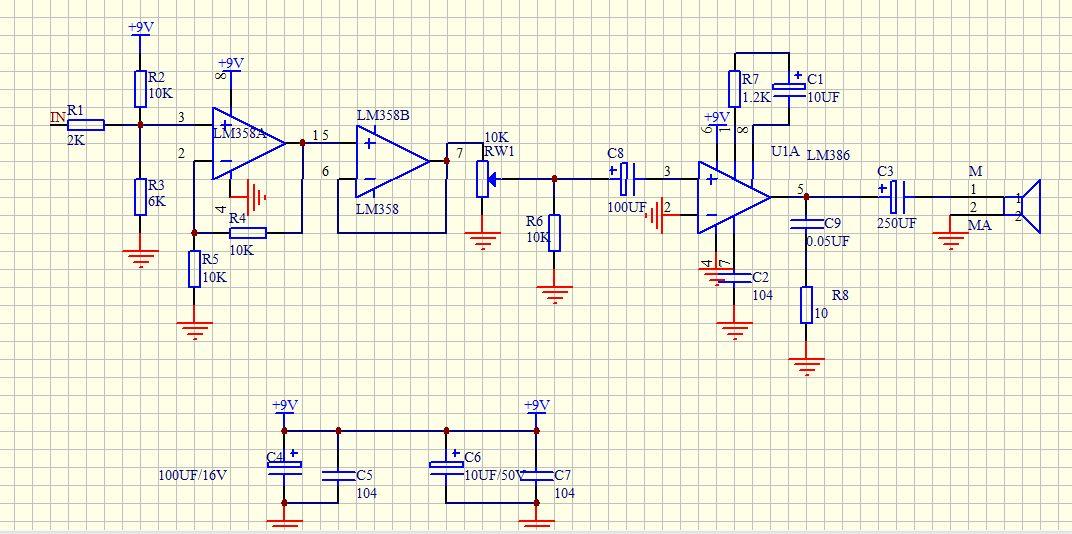 音频功率放大电路问题