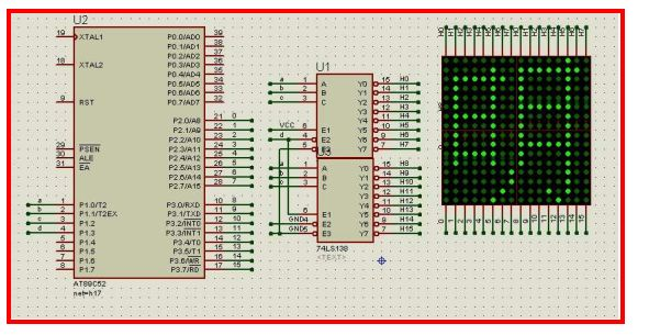 基于51单片机的16x16 led点阵显示屏设计原理与电路图