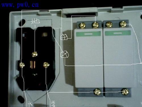 这个是双开双插座. 你不会什么呢? 不会安装?
