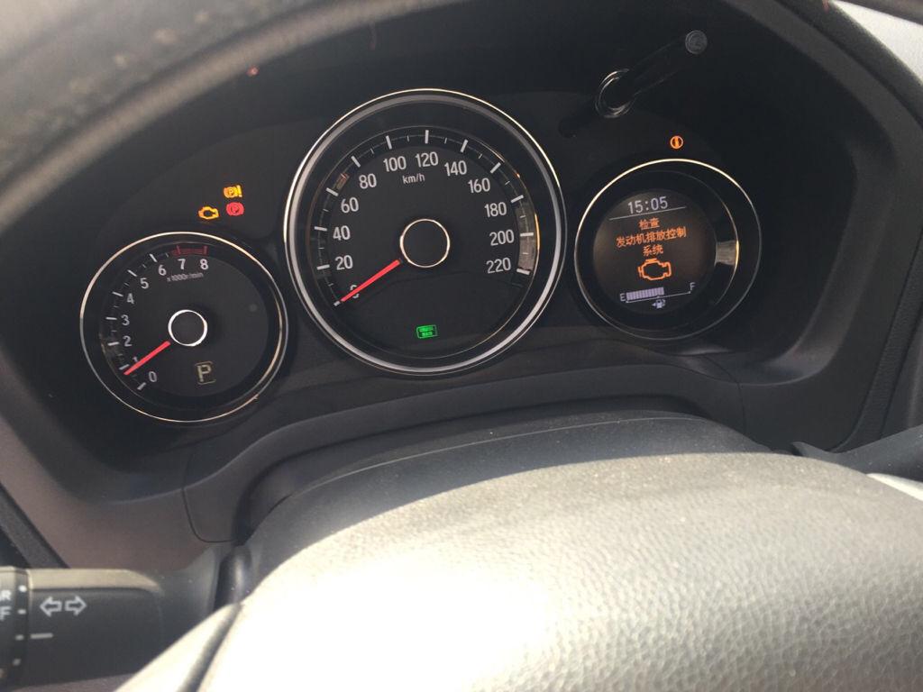 本田xrv发动机排放系统故障和驻车指示灯亮是什么原因