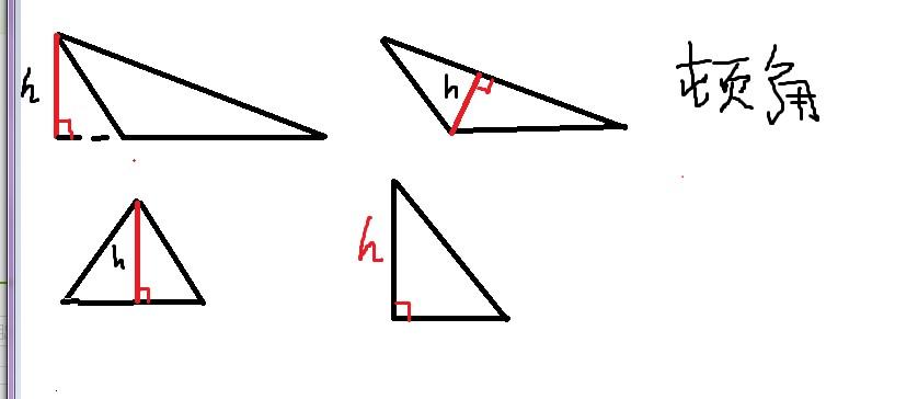 向ta提问私信ta  展开全部 看图片,者分别是钝角 锐角 直角三角形的高图片
