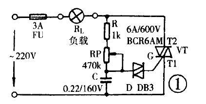220v交流双向可控硅控制电压电路图