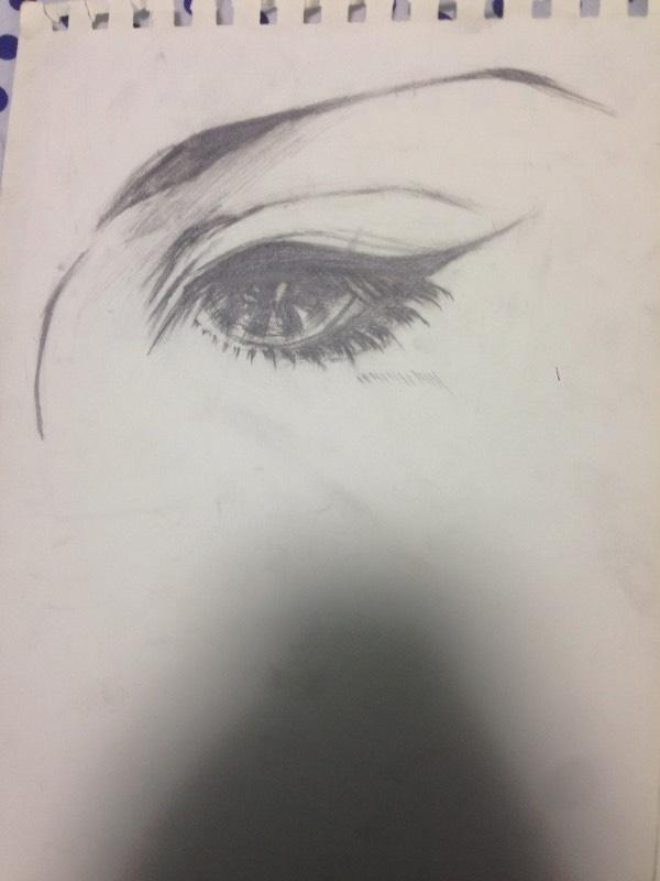 这种古风眼睛怎么画 记得以前有个空间教程
