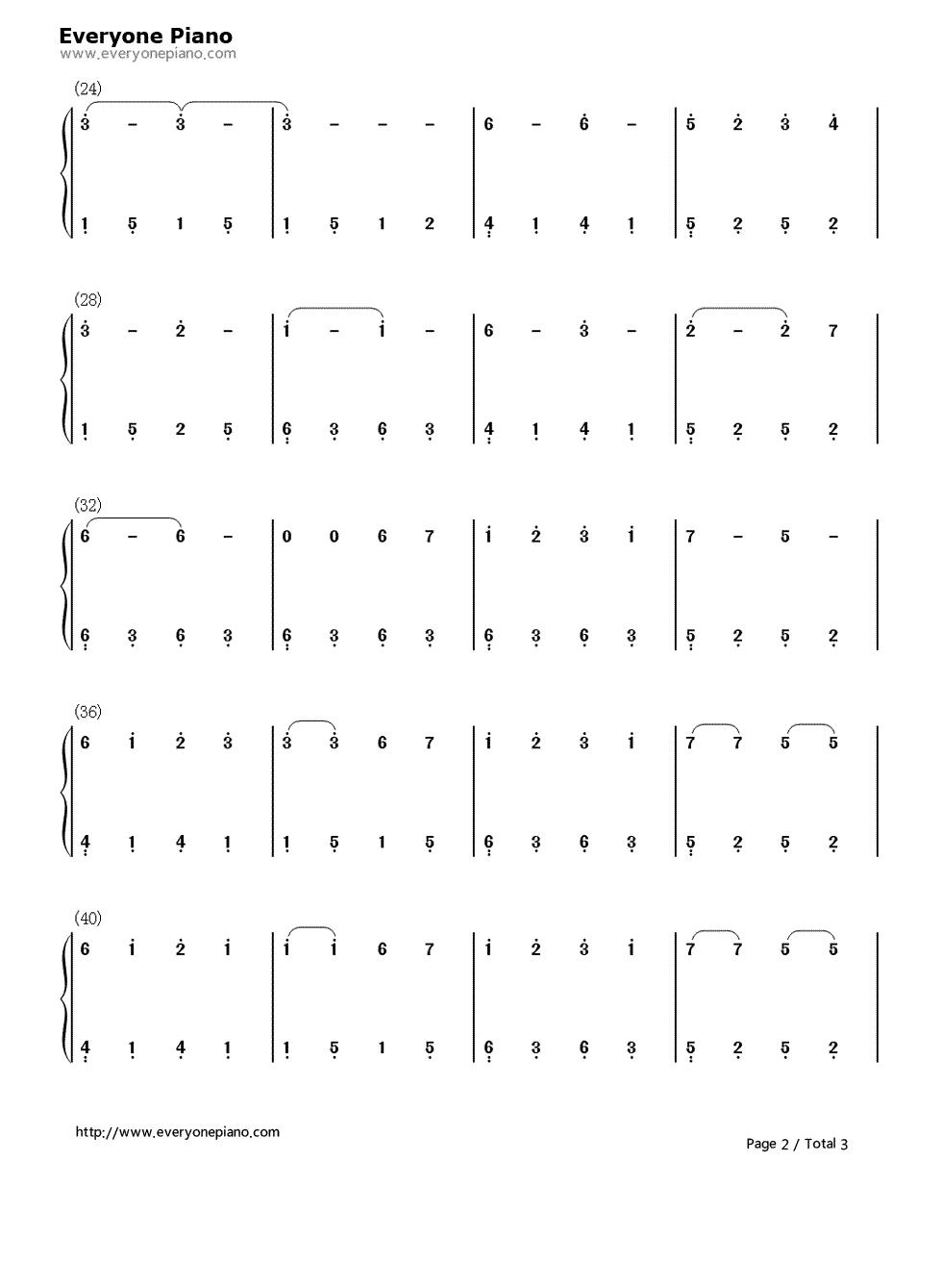 神话钢琴曲谱简谱