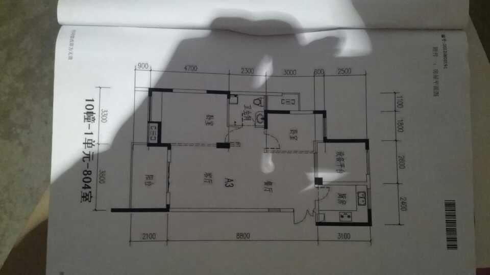 求房屋平面图(怎么把各房间隔出来)图片