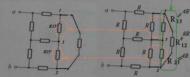 (电路分析 大学物理)求图(a)中的rab,只需要正确的化简电路的步骤,没