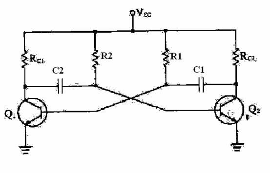 三极管无稳态电路,当我设定一秒频闪是的电阻和电容量