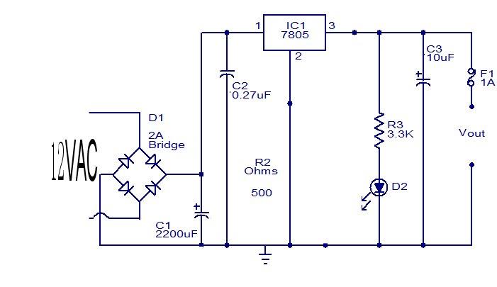 12v交流电怎么转换为5v的直流电