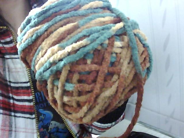 用双元宝织法给男生织的围巾一般要起多少针?用的是6mm的针
