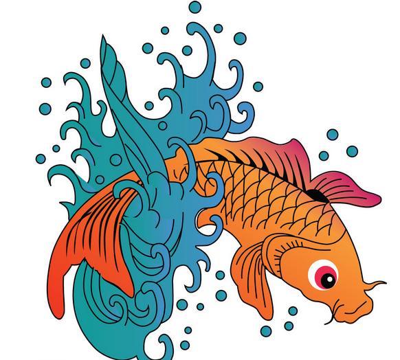 鱼怎么画图片