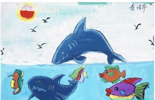 儿童画鲨鱼怎么画