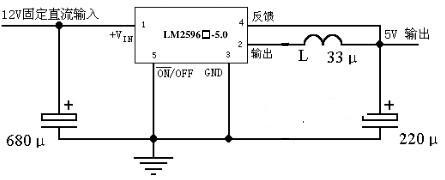 使用的lm2596-5.0芯片,电路图如下,为什么输出电压不是5v,是6.68v呢?