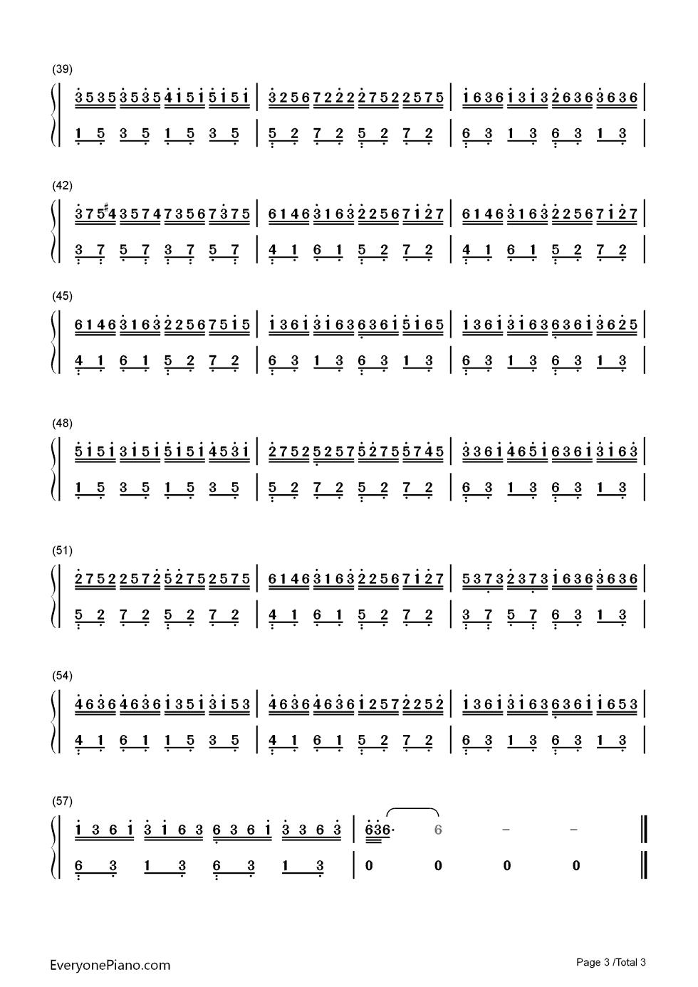 虫儿飞的c调钢琴简谱