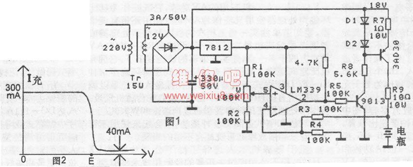 展开全部 12v电瓶充电需要14v电压,你的变压器空载17v,用四个二极管
