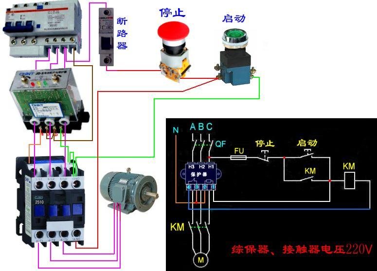 德力西電機綜合保護器斷相燈和運行燈同時亮怎么回事?