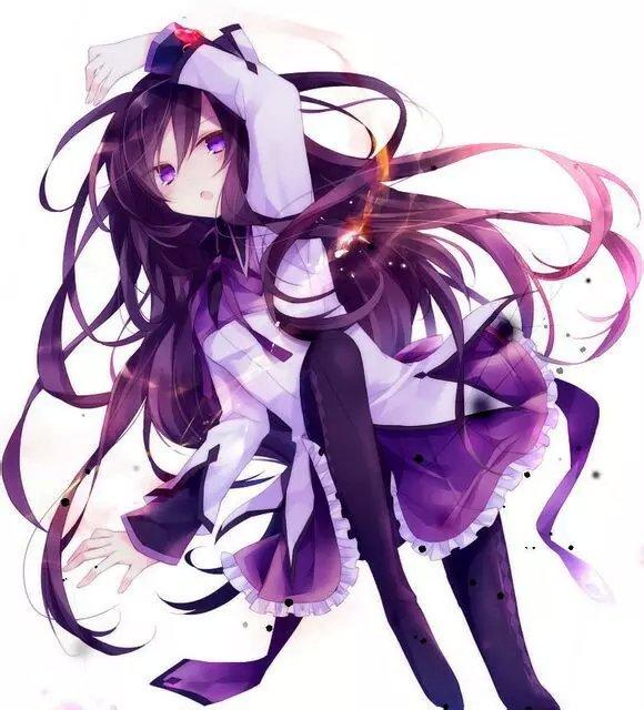 求紫发紫眸的动漫少女
