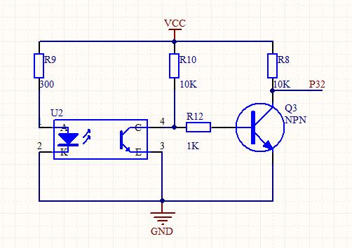 光电传感器测速电路原理图中各元件作用,跪求详细描述