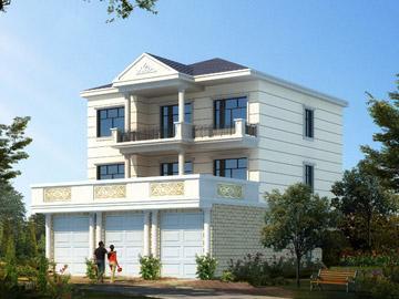 求农村房屋设计图,一楼店面,二楼,三楼自住.