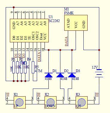 这个电路图里的fsmk是什么 这个是遥控器的电路图