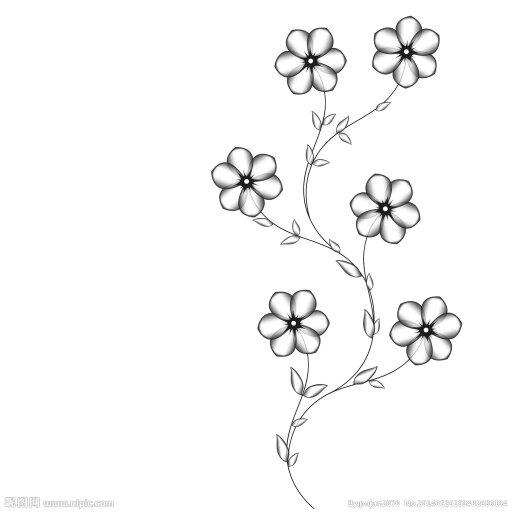 美丽又可爱又简单又可以用水彩笔画的花边