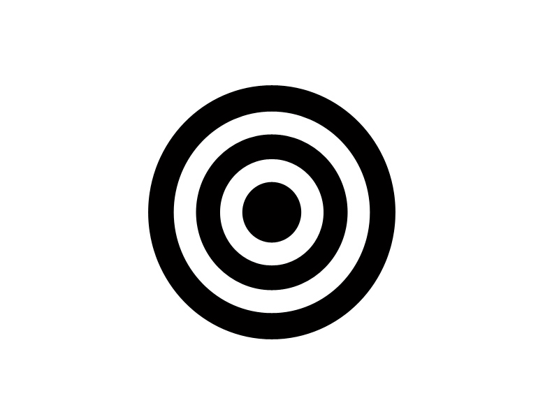 求十个同心圆的矢量图,像这样的.