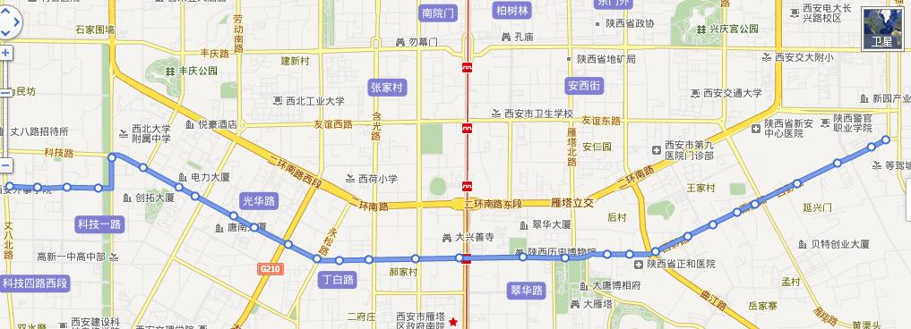 西安400路公交路线图