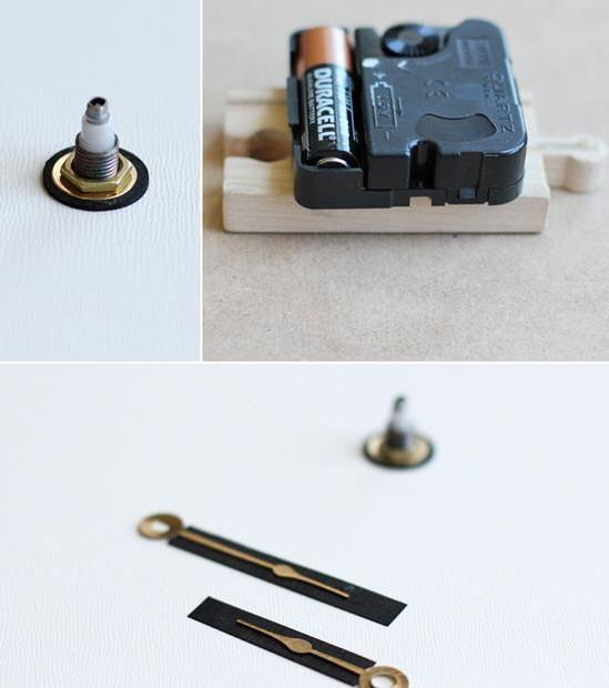 工具原料:打孔机 尺子 纸板 钟芯 步骤方法:   第三步:在纸板的