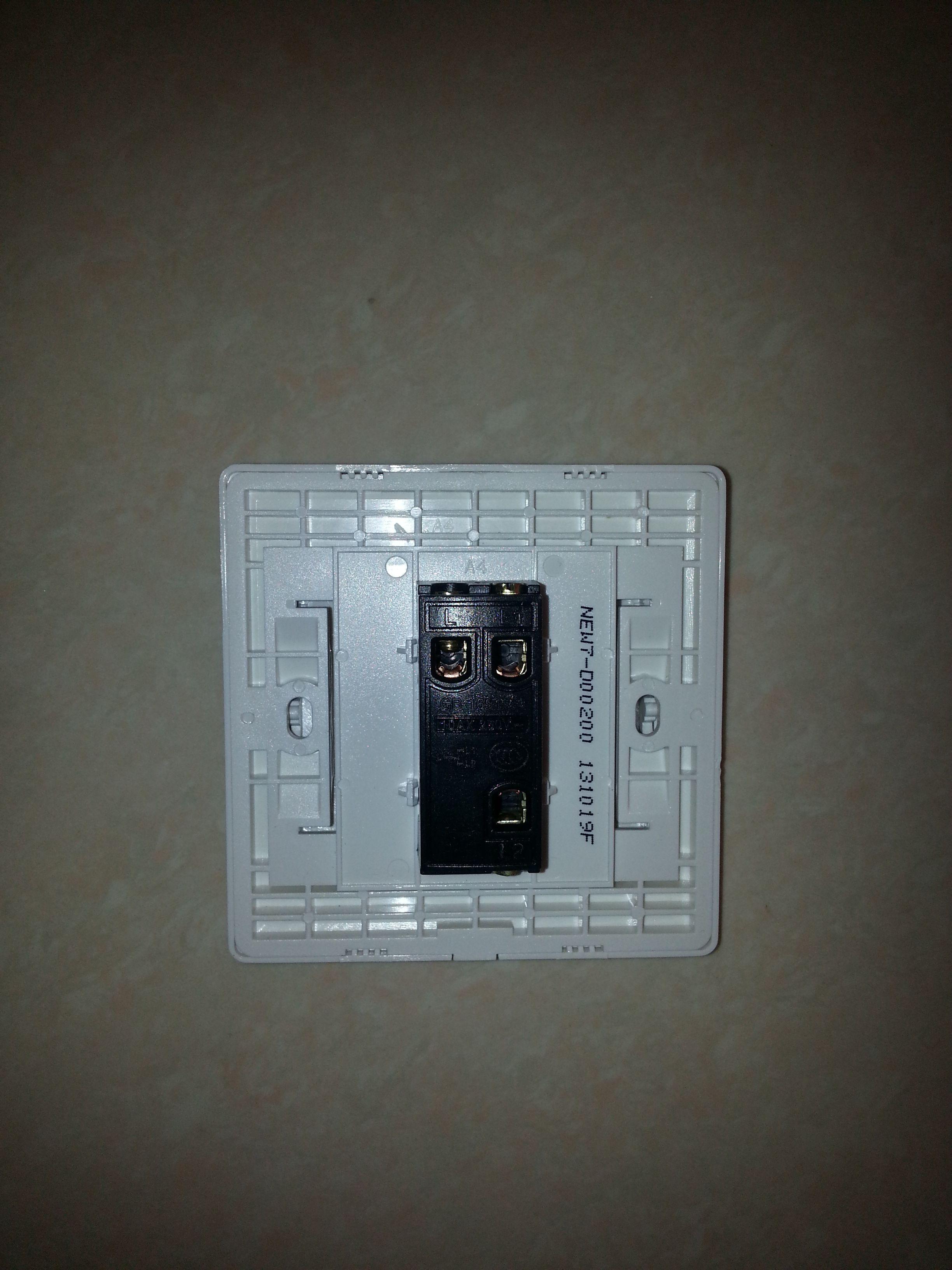 求助,请问这个开关插座该如何接线?