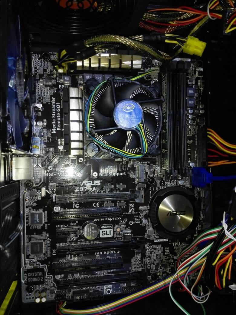 谁有华硕z97-a主板接线图,是主板和电源和机箱的那些接线,或者会接,教