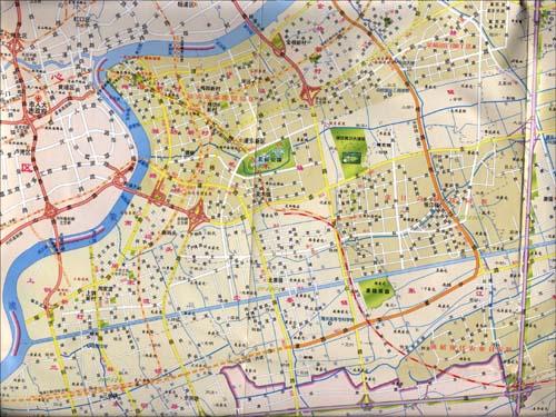 上海市交通地图的图书信息
