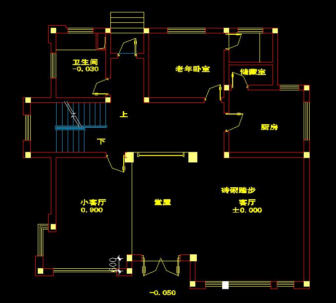 求一张建筑设计平面图,占地面积宽12米,长10米.需要一