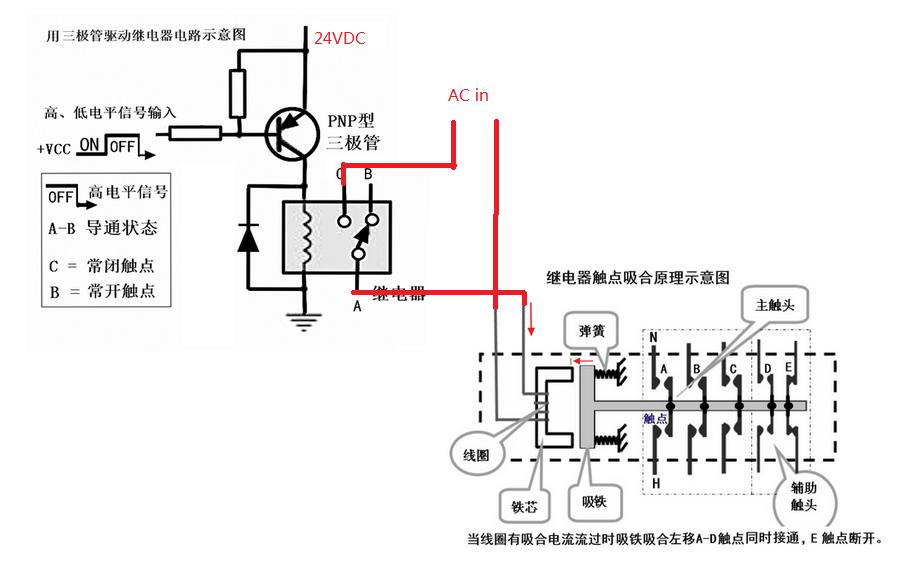 我想用24v继电器控制220v交流接触器,能发份电路图给我吗?