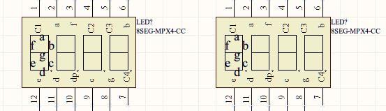 求单片机io连接四位数码管电路图
