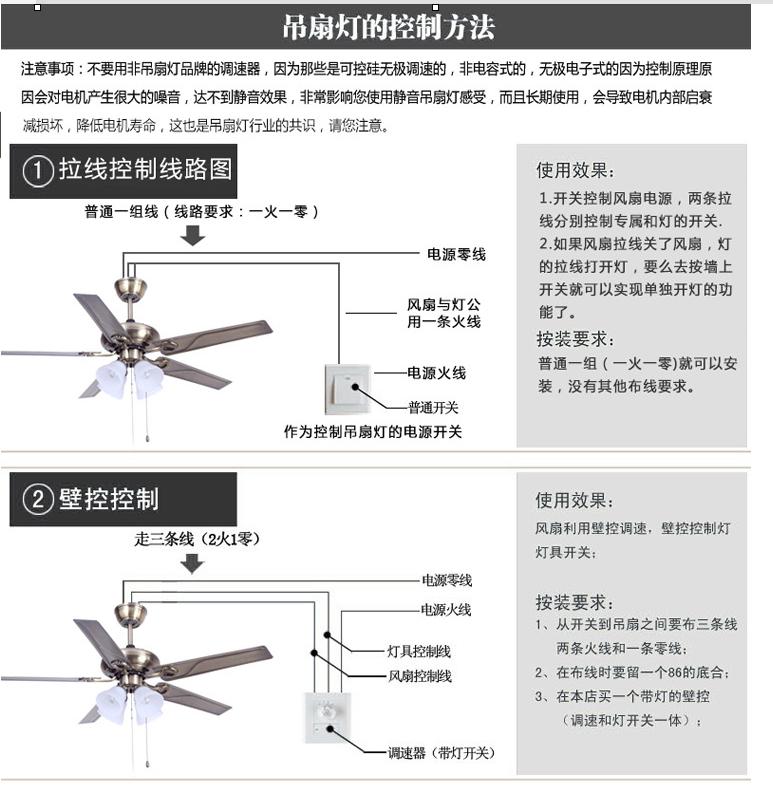 遥控风扇灯的接线图及工作原理
