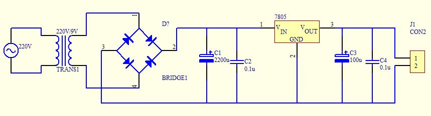 电源电路中电容的作用,四个电容各自有什么分工.谢谢
